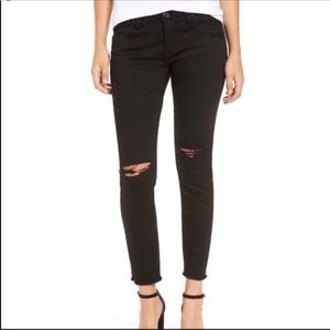 Blank NYC Black Crazy Train Cropped Jeans